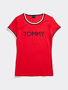 Tommy Hilfiger Adaptive Women/'s Seated Fit Flag Shirt W// Adjustable Closure