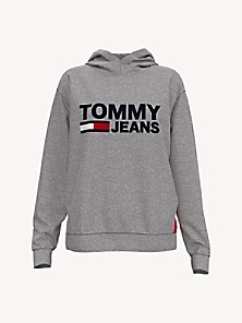 타미 진스 TOMMY JEANS Flag Hoodie,GREY HEATHER