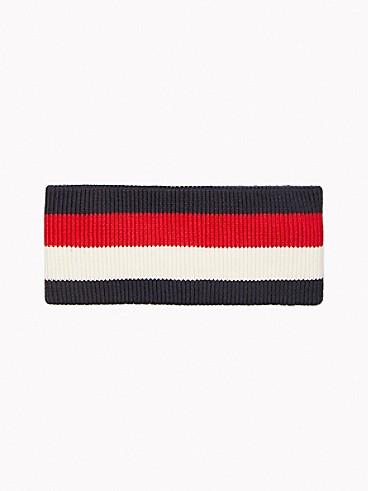 타미 힐피거 Tommy Hilfiger Icon Stripe Headband,MASTERS NAVY