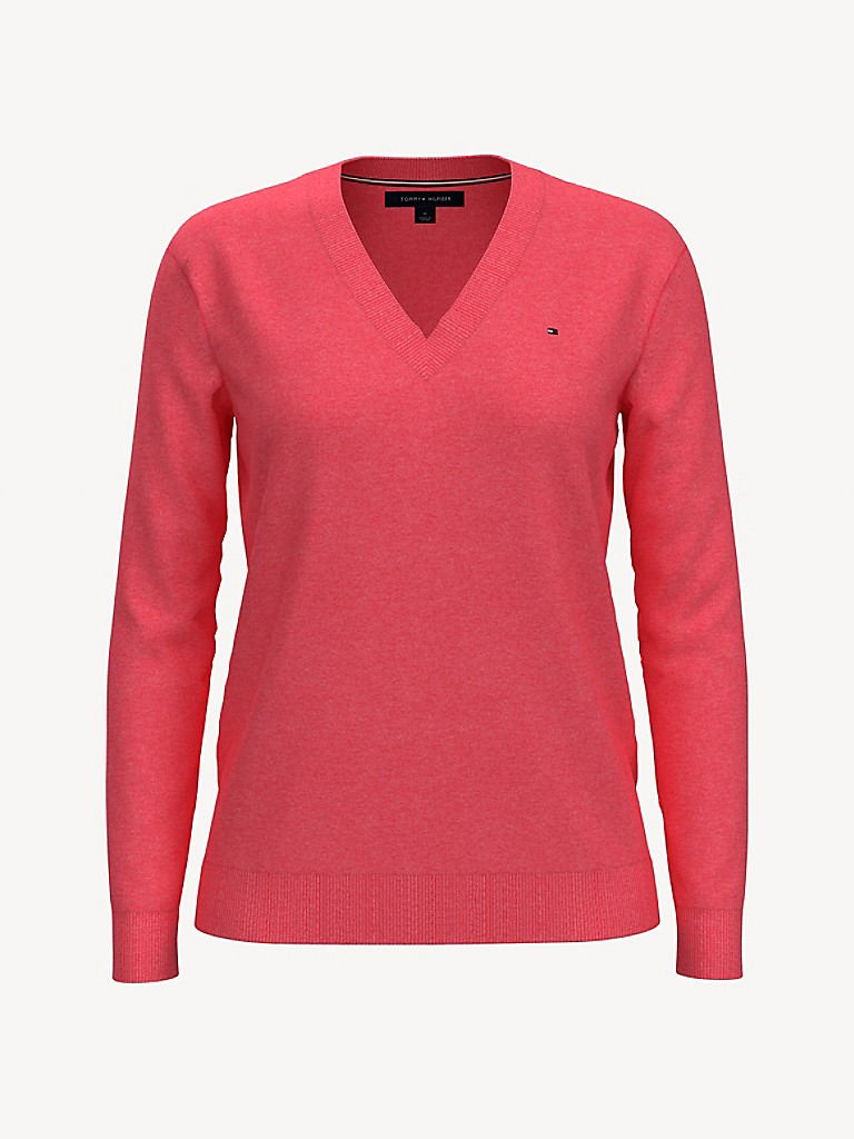 Essential Solid V-Neck Sweater