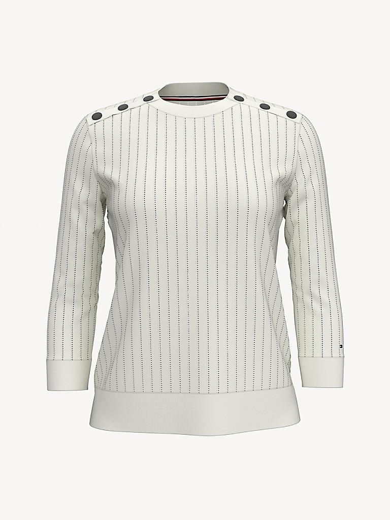 SALE Essential Pinstripe Logo Sweater