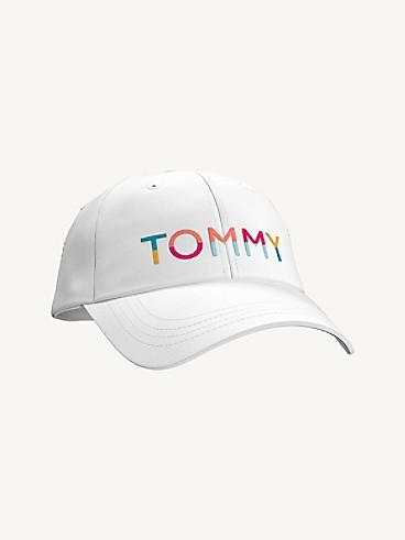 타미 힐피거 로고 볼캡 모자 Tommy Hilfiger Bright Logo Cap,WHITE/RAINBOW SCRIPT