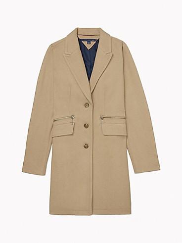타미 힐피거 우먼 아이콘 에센셜 오버코트 - 디종 Tommy Hilfiger Icon Essential Overcoat 76J0651