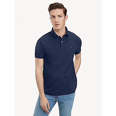 Custom Fit Essential Solid Polo   Tommy Hilfiger