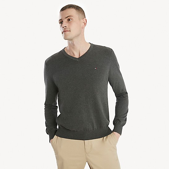 589bd9be Signature V-Neck Sweater | Tommy Hilfiger
