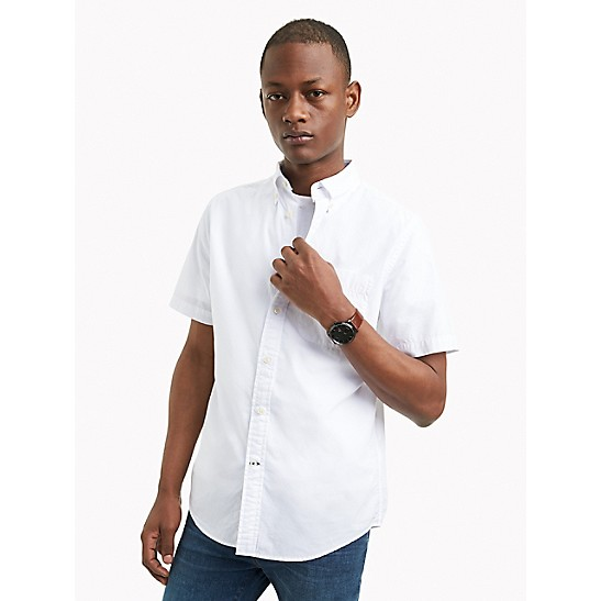 97690f580 Cotton Poplin Short-Sleeve Shirt | Tommy Hilfiger