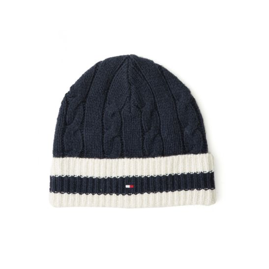 Mens Cable Beanie Tommy Hilfiger