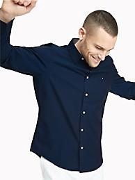 Custom Fit Essential Stretch Shirt   Tommy Hilfiger