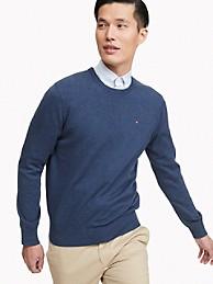 타미 힐피거 맨 스웨터 Tommy Hilfiger Essential Crewneck Sweater,NAVY HEATHER