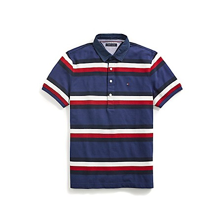 55244e5e1e1 Custom Fit Stripe Polo