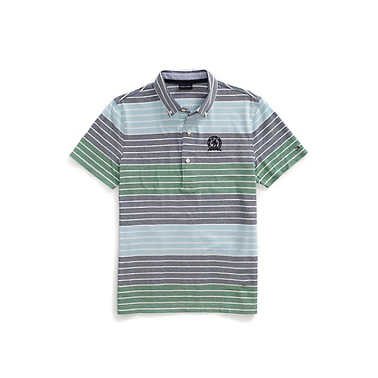 Tommy Hilfiger Striped Embroidered Polo Shirt