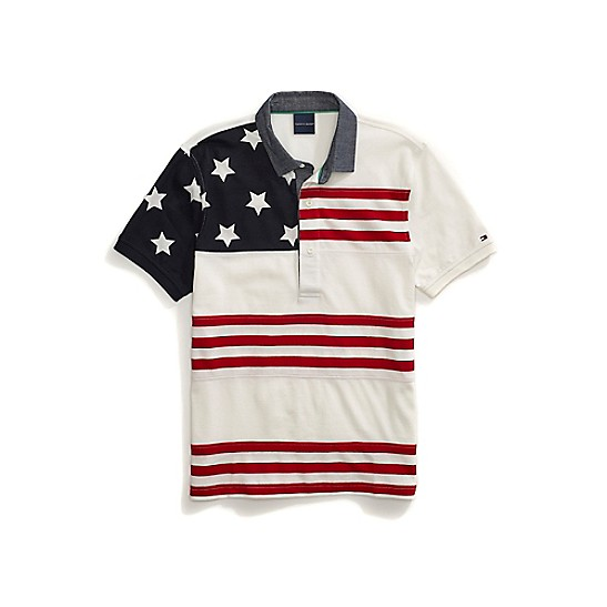 Custom Fit Stars and Stripes Polo | Tommy Hilfiger