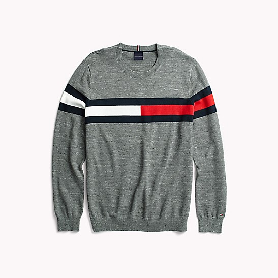 Smuk Flag Crewneck Sweater | Tommy Hilfiger DA-76