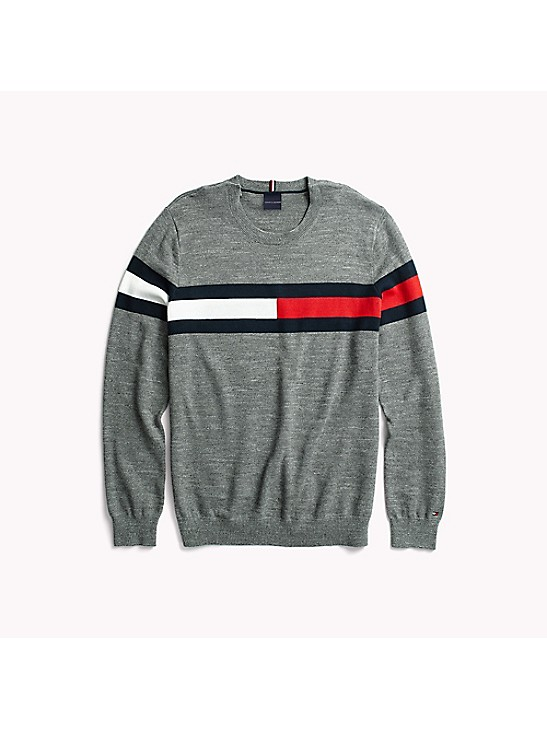 Tommy Hilfiger Womens Centered Logo Creweck Sweater