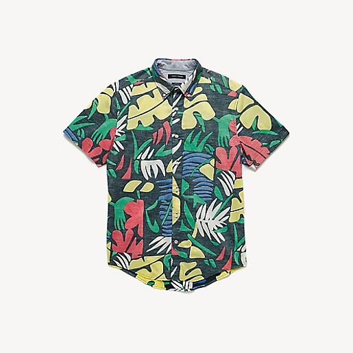 7fbb0690356d Short-Sleeve Tropical Shirt | Tommy Hilfiger