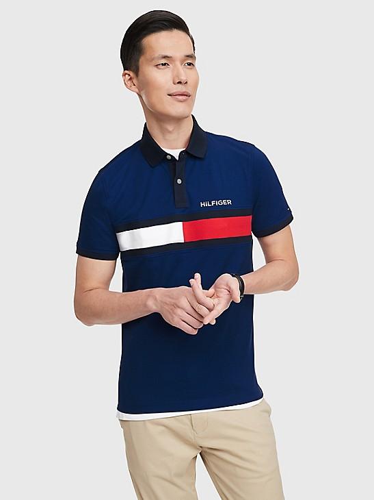 TOMMY HILFIGER Custom fit Polo Shirts XS L S XL M XXL