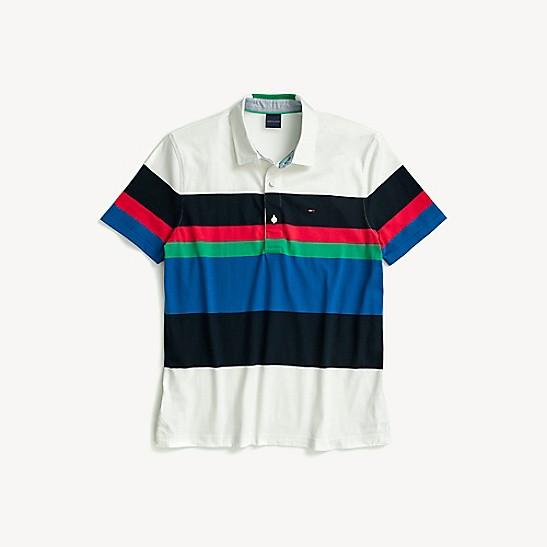 68853c5fe9a Stripe Short-Sleeve Rugby | Tommy Hilfiger