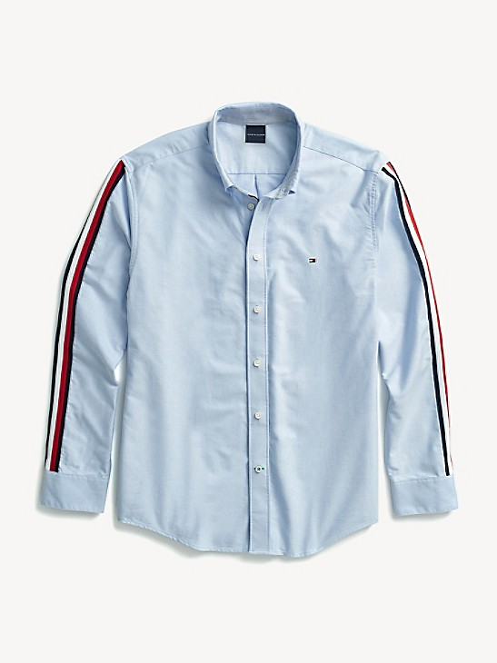 $0 Free Ship Tommy Hilfiger Men/'s Long Sleeve Button-Down Striped Casual Shirt