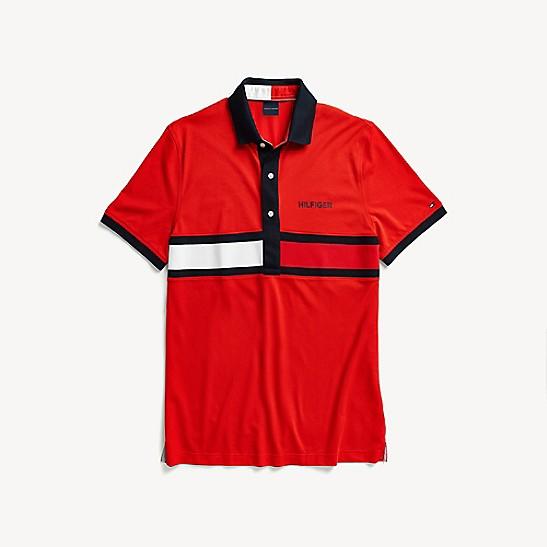 60a04b602 Custom Fit Flag Polo | Tommy Hilfiger