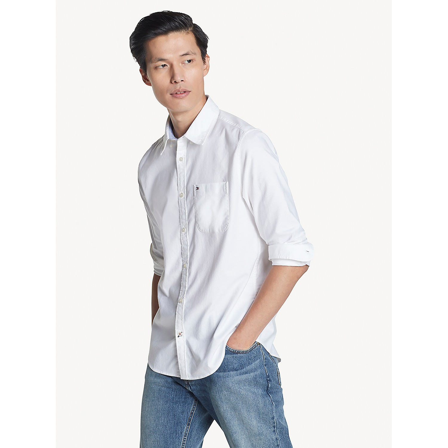 TOMMY HILFIGER Slim Fit Essential Stretch Cotton Shirt