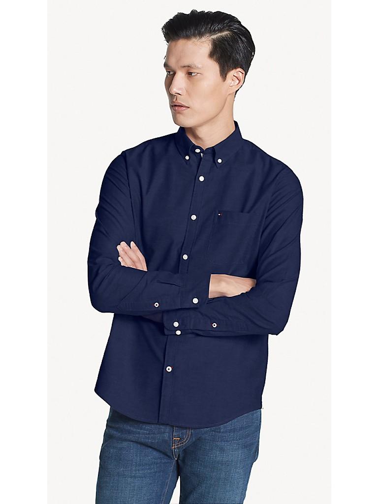 Slim Fit Essential Stretch Cotton Shirt