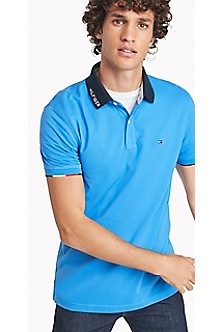 Tommy Hilfiger Purple Summer Performance Slim Fit Polo for men