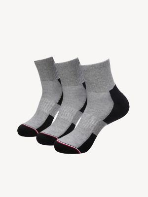 Men\\\'s Quarter Top Sock 3PK, Black, - Tommy Hilfiger men\\\'s socks. Three pair of gym-ready socks in soft cotton with just enough stretch.