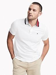 TOMMY HILFIGER Custom Fit Essential Contrast Collar Polo