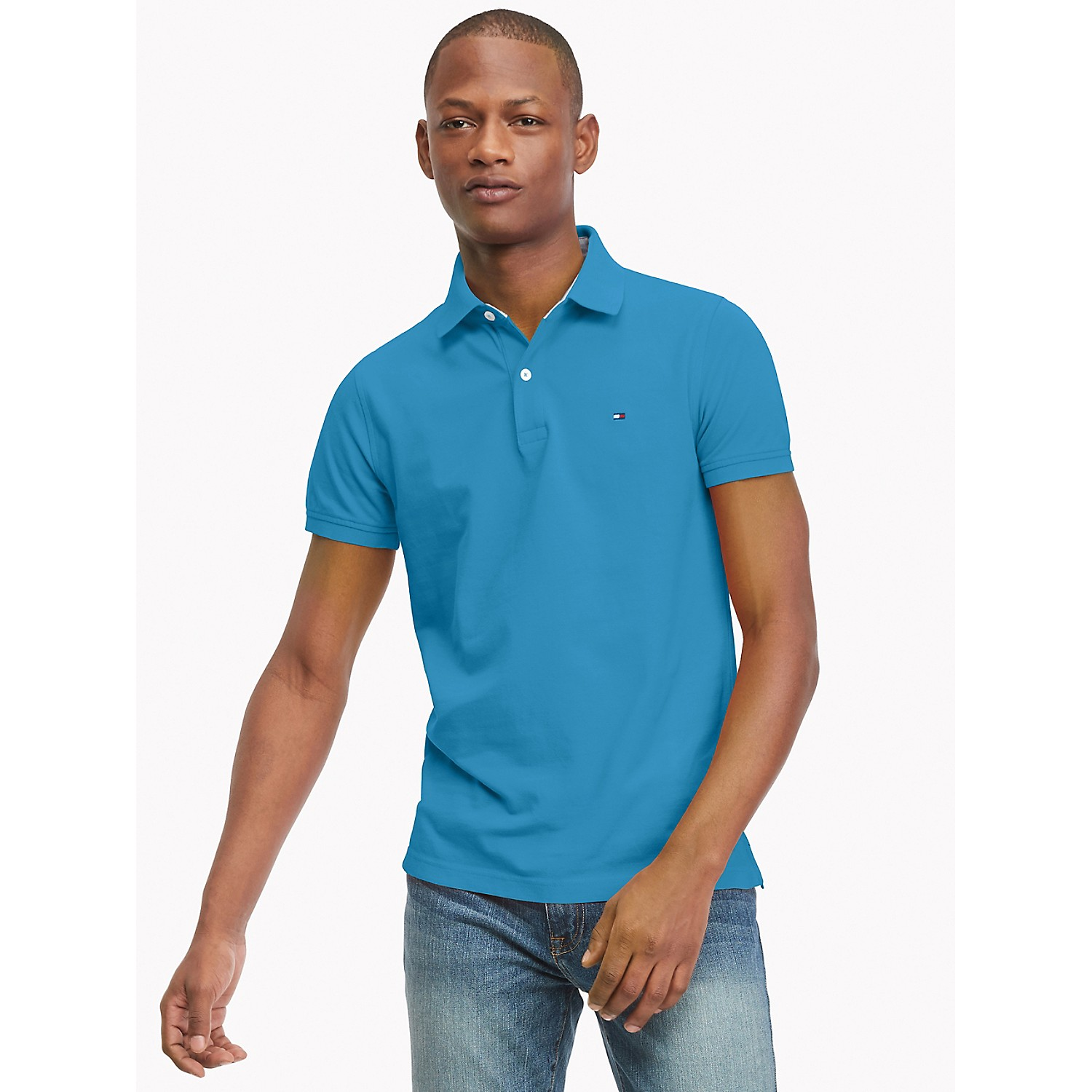 TOMMY HILFIGER Slim Fit Essential Solid Polo