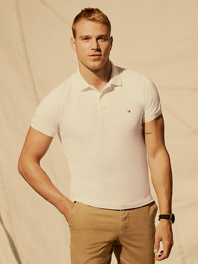 Slim Fit Essential Solid Stretch Polo