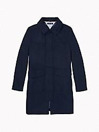 타미 힐피거 에센셜 울 코트 - 네이비 Tommy Hilfiger Essential Wool Coat 78j1095