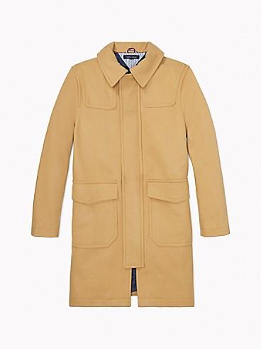 타미 힐피거 에센셜 울 코트 - 베이지 Tommy Hilfiger Essential Wool Coat 78j1095