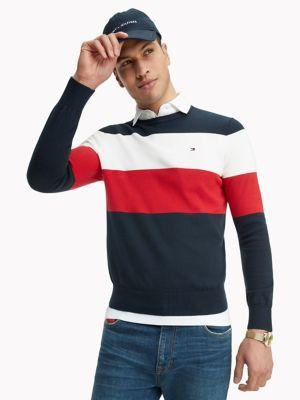 Essential Block Stripe Sweater | Tommy Hilfiger