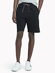 타미 힐피거 스웻 반바지 Tommy Hilfiger Essential Solid Sweatshort,JET BLACK
