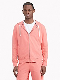 타미 힐피거 맨 후드티 Tommy Hilfiger Essential Stretch Pique Cotton Hoodie,PORCELAIN ROSE