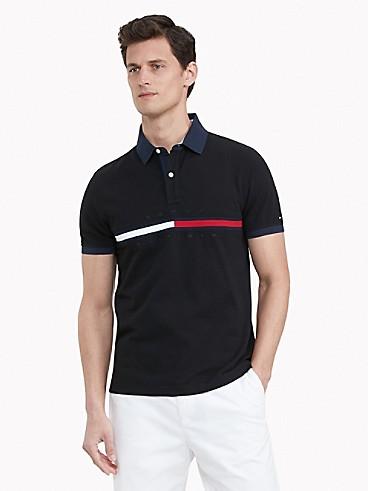 TOMMY HILFIGER Essential Custom Fit Bar Stripe Polo