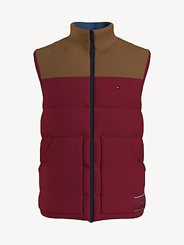 타미 힐피거 맨 조끼 Tommy Hilfiger Essential Hiker Puffer Vest,rhubarb