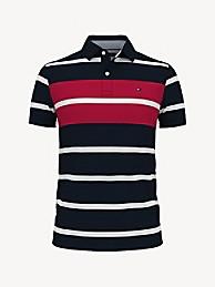 TOMMY HILFIGER Essential Slim Fit Stripe Polo