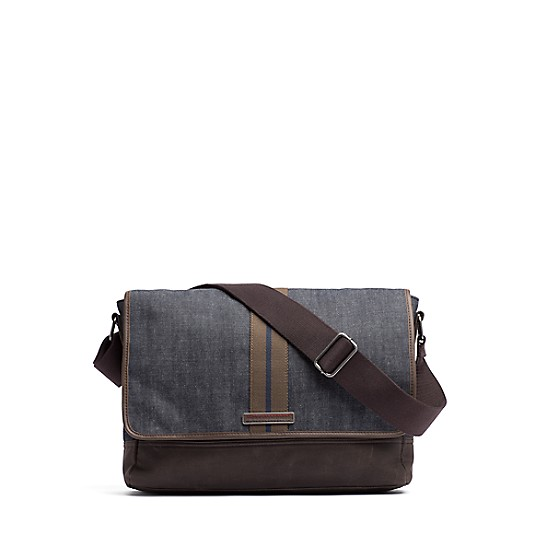 Final Canvas Leather Messenger Bag