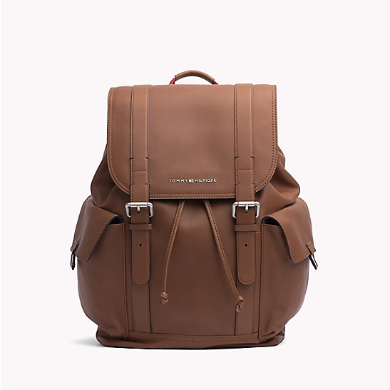 890b820e02a4 SALE Drawstring Leather Backpack