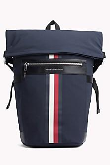 Stripe Roll-Top Backpack 32459347cf62e