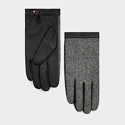 herringbone-leather-gloves by tommy-hilfiger