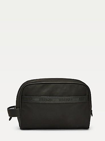 타미 힐피거 로고 파우치 Tommy Hilfiger Logo Dopp Kit,BLACK