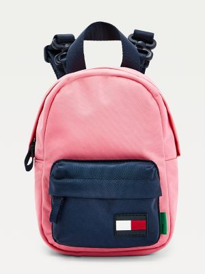 Boy\\\'s TH Kids Recycled Mini Backpack, Exotic Pink, - Tommy Hilfiger unisex bag.