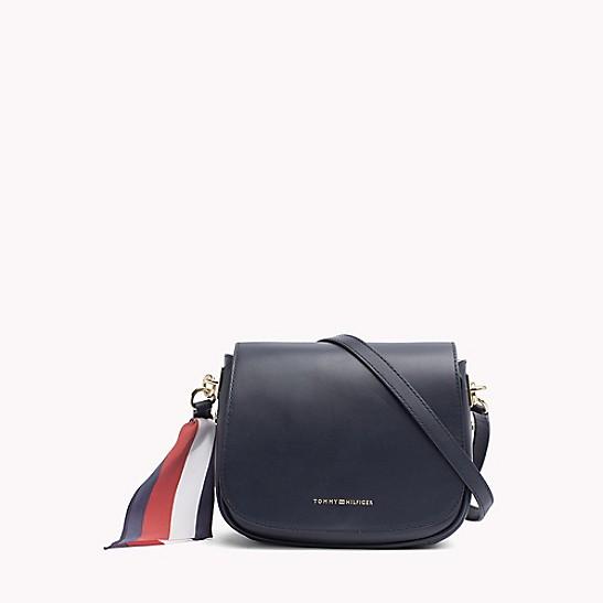 8a57a31a874 Leather Saddle Bag | Tommy Hilfiger