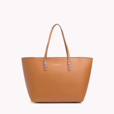 tommy hilfiger leather tote bag