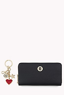 Large Wallet And Keychain Gift Set