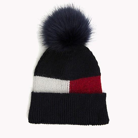 3a3cb4c149304 Fur Pom Beanie | Tommy Hilfiger
