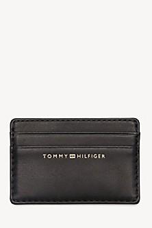 97aba1886 TOMMY HILFIGER. Zip Around Leather Wallet. $99.50. BLACK. Final Sale.  Leather Credit Card Holder