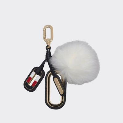 Women\\\'s Leather Puff Keychain, Bright White, - Tommy Hilfiger women\\\'s keychain. Never rummage around your bag for keys again. A leather tag is accompanied by a fluffy puff of which you\\\'ll never lose sight.